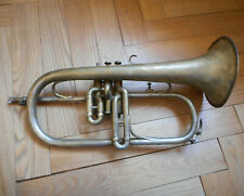 Ancien BUGLE COUESNON - Antique old vintage FLUGELHORN 19th century