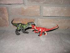 Jurassic Park 2009 Dino Battlers Mini Tyrannosaurus rex T.rex vs Velociraptor!