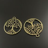 38027 Antique Style Bronze Tone Full Of Life Tree Charm Pendant 30pcs