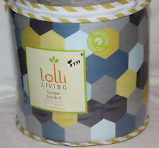 Lolli Living Woods Hexagon Crib Bumper blue yellow gray new