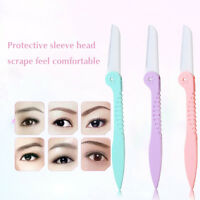 Makeup Women Face Eyebrow Hair Removal Safety Razor Trimmer Shaper Shaver Gift