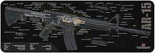 "AR-15 ARMALITE RIFLE 5.56mm NATO CUT-AWAY TEKMAT 12"" x 36"" GUNSMITH CLEANING MAT"