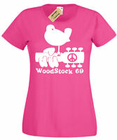 Womens Woodstock T-Shirt gift Present peace and music festival Ladies
