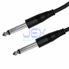 """3' ft Guitar to Amp Cable 6.35mm 1/4"""" Mono Male to Male Lead DJ Mic Cable 1M"""