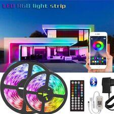 Aplicación de sincronización Bluetooth Música 65FT Kit Completo 20M Remoto 5050 LED Tira Luces Para Sala