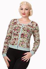 Floral Acrylic Waist Length Women's Jumpers & Cardigans