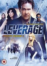Leverage Complete Series 4 DVD All Episode 4th Fourth Season UK Release NEW R2