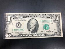 Ink Error 1981-A $10 dollar note - Very Collectible! #001