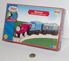 Thomas & Friends Train Tank Engine Wooden Railway Rheneas Rock Crusher Cars NOB