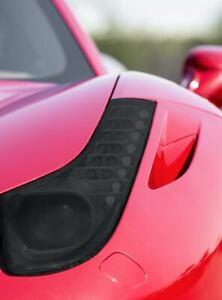 Ferrari 458 Smoked TINT Headlight Blackout Lens Pre Cut PPF Vinyl Decal Overlay