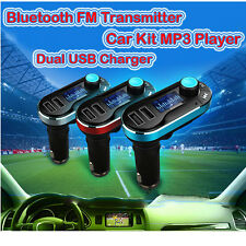 Bluetooth Car MP3 Player FM Transmitter TF USB Charger - iPhone 6s Plus Samsung