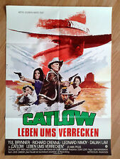 CATLOW rare German 1-sheet 1972 YUL BRINNER Leonard Nimoy DALIAH LAVI western