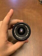 Canon 28mm f/2.8 FD-Mount Manual Focus Lens