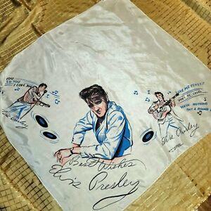 Elvis Presley Autograph signed pink concert scarf from las vegas mint
