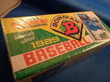 1989 TOPPS BASEBALL - BOWMAN FACTORY SET (484) CARDS ! MLB HOFers ! HOBBY BOX !
