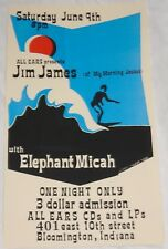 MY MORNING JACKET rare Jim James CONCERT POSTER all ears 2001 only 50 made MINT!