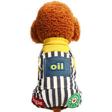 Small Dog Jumpsuit Bib Overalls Striped Pet Cat Clothing Poodle Yorkie Apparel