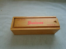 Set Of 28 Double Six Dominoes With Wooden Box