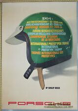1964 Porsche GT Champion Genuine Dealer Factory Poster Original Hanns Lohrer