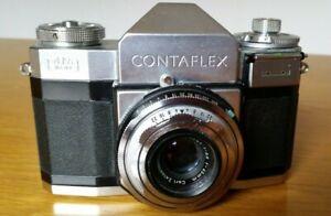 Zeiss Ikon Contaflex Kamera mit Carl Zeiss Tessar 1:2,8 f=45mm Objektiv