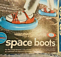 Vintage Space Boots 1969 Astronaut Shoes by Ideal toy Star Team New-Org Box