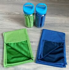 """40 x 12 """" Large Cooling Towel Instant Chill With Bottle for Outdoor Sports Gym"""