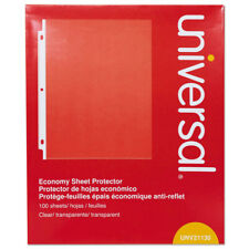 New Listinguniversal 21130 100 Pc Top Load Economy Letter Size Poly Sheet Protectors New