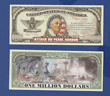 2-ATTACK ON PEARL HARBOR  DOLLAR Bills Collectible--Novelty -- FAKE -MONEY--D