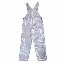 METALLIC DUNGAREES FESTIVAL GAY PRIDE PARTY WEAR WOMENS PVC LOOK SHINY CATSUIT.