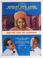 SETTE VOLTE DONNA commedia De Sica EKBERG MARTINELLI Mac LAINE soggettone 1967