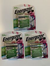 Energizer AA Rechargeable Batteries Power Plus 2300 mAh 3 - 4 Packs Total Of 12