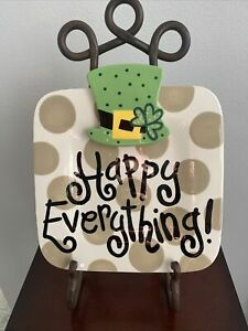 Happy Everything Coton Colors Square Plate