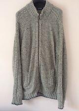 "Debenhams Maine Zip Up Jacket Knitted Winter Jumper Mens XL Lambswool 44"" 112cm"