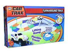 CAR Trax Turnaround PLAYSET BAMBINI PISTA RACING assemblare Gioco a Batteria
