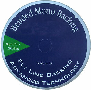 80yds 20lb Fly Fishing Braided Mono Fly Line Backing (Ideal for any reel) White