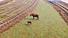 N Scale Bull Moose, Cow & Calf Moose Combo 1:160 scale Model Railroad painted