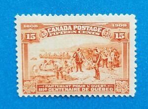 Canada Scott #102 MNG very clean stamp. Bright orange colors. Good perfs.