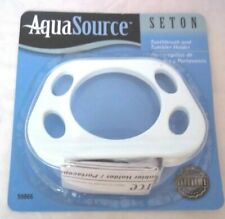 Aqua Source Seton White Toothbrush and Tumbler Holder For Bathroom #59866 NEW