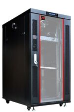 "18U 39"" Deep 19"" It Free Standing Server Rack Cabinet Enclosure Free Accessories"