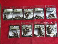 A GOOD SELECTION OF RON THOMSON LEAD SWIVELS, VARIOUS SIZES