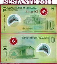 NICARAGUA 10 CORDOBAS POLYMER 2007 ( 2012 ) 2^ EMISSION  P 201(b) - FDS / UNC