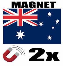 2 x AUSTRALIE Drapeau Magnet 6x3 cm Aimant déco AUSTRALIE magnétique frigo