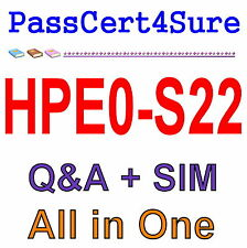 HP Architecting Advanced HPE Server Solutions HPE0-S22 Exam Q&A+SIM