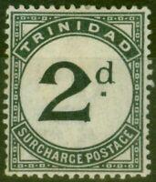 Trinidad 1885 2d Slate-Black SGD3 Fine Mtd Mint