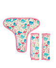 Keep Me Cosy Pram Harness Strap Covers + Buckle Cosy*(patented) - Flamingo