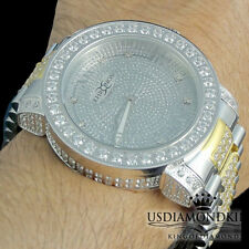 Joe Rodeo Khronos Genuine Real Diamond Tarnish Free 2 Tone Stainless Steel Watch