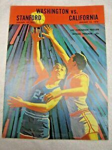 WASHINGTON HUSKIES VS STANFORD AND CALIFORNIA BASKETBALL PROGRAM JANUARY 1970