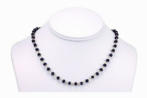 """Blue Sapphire Necklace Faceted Chain 18 19 """" 14k Gold filled or Sterling Silver"""