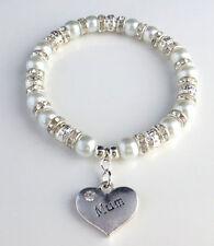 Personalised Charm Bracelet - Mum Mummy Mothers Day / Birthday + Free Gift Bag