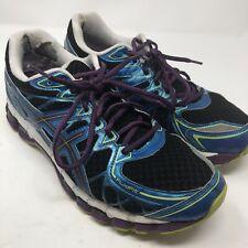 ASICS Gel Kayano 20 Fluid Fit Running Shoes Women's Size 11 Black Blue Purple